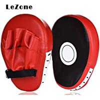 Luniquz Boxing Focus Pads, Punching Target Mitts for Hook & Jab Strike and MMA UFC Training, Ergonomic Fit Hands,High Elasticity EVA, Non-toxic