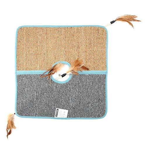 Kratzbrett Kratzmatte Kratzer Kratzteppich Sofa Kissen Sisal Cat Scratching Mat Faltbare Cat Scratcher Pad Abdeckung für kleine Haustiere Katzen Spielen schlafen