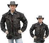 Westernjacke regenfest ungeölt Country Gr. XL - von Running Bear schwarz Wild West Line Dance Kleidung