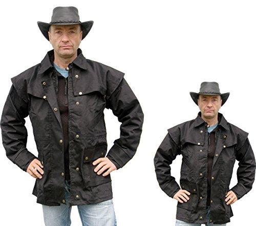 Westernjacke regenfest ungeölt Country Gr. XL - von Running Bear schwarz Wild West Line Dance Kleidung (West Kleidung Wild Wild)