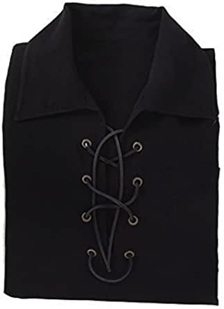 Kilts Wi Hae Deluxe Jacobite Culloden Jacobean Ghillie Shirt - Black. Own Brand. 7