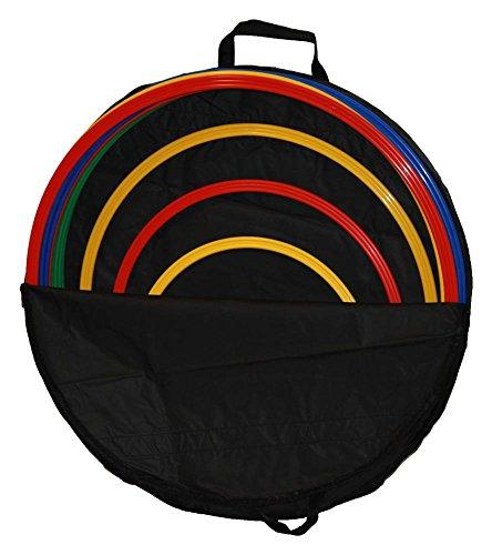 Agility Hundesport - 8er Set Ringe / Reifen Ø ca. 70 cm, 4 Farben - inkl. Tasche