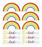 HOBBY-Design Sticker Einladung Regenbogen,Bogen 15 x 16,5 cm