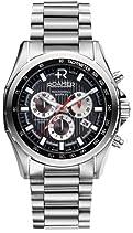 Roamer Herren-Armbanduhr XL ROCKSHELL CHRONO Analog Quarz Edelstahl 220837 SM2