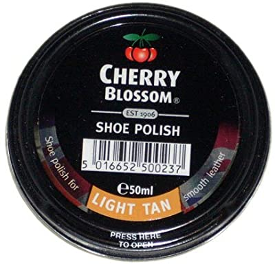 Reckitt Cherry Blossom Shoe Polish Light Tan - inexpensive UK light store.