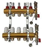 Messing Heizkreisverteiler für Fußbodenheizung (2 Kreise)