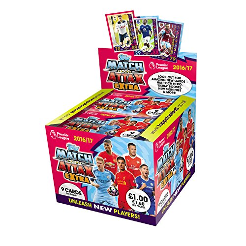 EPL Match Attax Extra 2016 17 Trading Card Game  Pack of 50