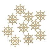 chiwanji 10 x blanko Rustikales Holzruder Home DIY Basteln Hängen Holzarbeiten Verzierung