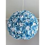 Blue Rose, Lampe Leuchte Lampenschirm Pendelleuchte Pendellampe Hängeleuchte Hängelampe Papierleuchte Papierlampe Reispapierlampe Designerlampe Wohnzimmerlampe Schlafzimmerlampe Deckenlampe