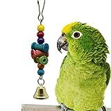 DQANIU ❤️❤️ Vogel-Spielzeug, das hölzerne Wellenmolarenschnur-Bell-Aufsuchungsstern-Vogel hängt