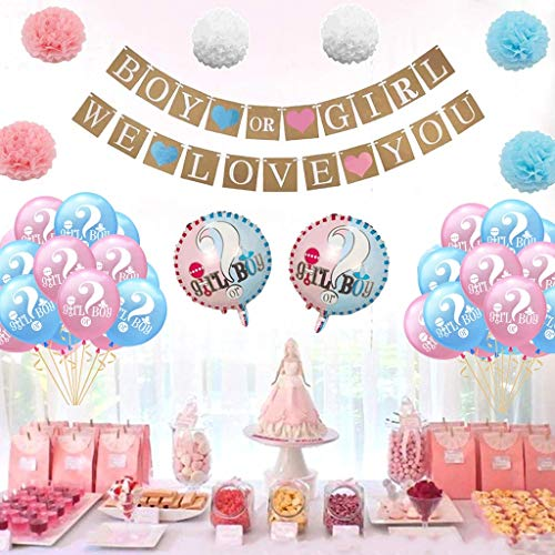 nder Reveal Babyparty Paket Boy or Girl