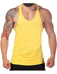 Juleya Men Hip Hop camiseta sin mangas Fitness camiseta sin mangas para hombre oDtG9z