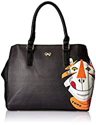 Ladida Ladida Collection Womens Satchel with Pouch (Black) (2017-43 BLACK)