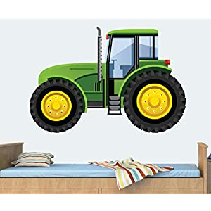 Green Tractor Mural Full Colour Wall Sticker   Childrenu0027s Bedroom Nursery  Decal Transfer   MEDIUM   Part 69
