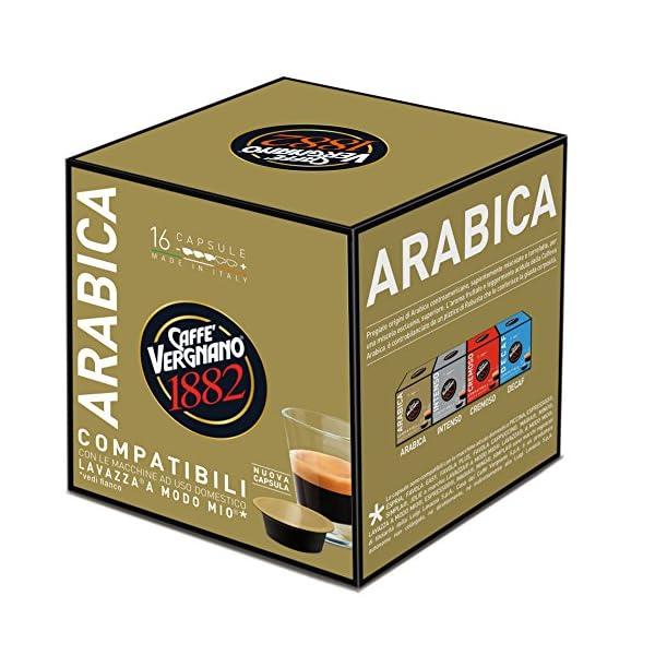 Caffè Vergnano 1882 Capsule Caffè Compatibili Lavazza A Modo Mio, Arabica - Confezione da 16 capsule 3 spesavip