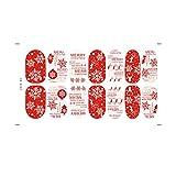 Demiawaking Natale Autoadesivi per Unghie Decalcomanie di Polpastrello Unghie Luminoso (Colore casuale) (1pezzi)