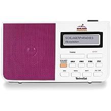 TechniSat DIGITRADIO 210 Schlagerparadies Edition / Digital-Radio mit Schlagerparadies Direktwahltaste, DAB+, UKW, zweizeiliges LCD-Display, Teleskopantenne, Kopfhöreranschluss, Favoritenspeicher, Netzteil, weiß/pink