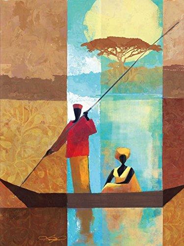 Keith Mallett - On The River I Kunstdruck (22,86 x 30,48 cm) -