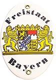 Emaille Wappentafel Freistaat Bayern
