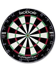 Nodor Bristle Supamatch 2 - Juego de dardos ( acero, cerdas ), color negro