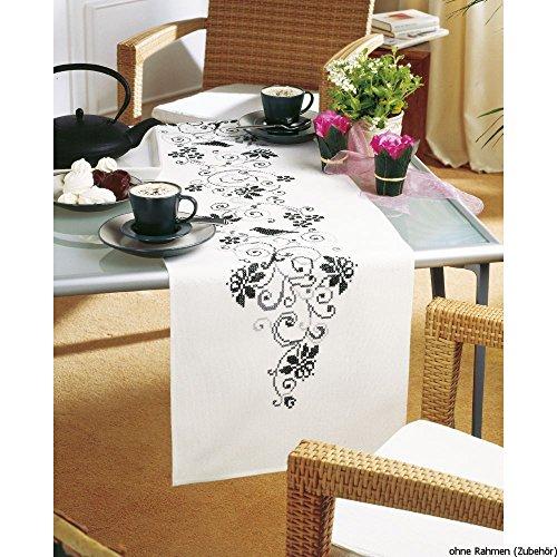 läufer Elegant Stickpackung/Läufer im vorgedruckten/vorgezeichneten Kreuzstich, Baumwolle, Mehrfarbig, 38 x 142 x 0.3 cm ()
