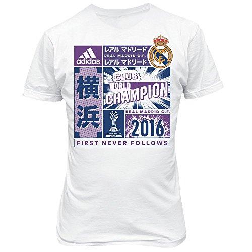 Adidas  - Camiseta niños Real Madrid CF campeón Copa Mundial Clubes 2016