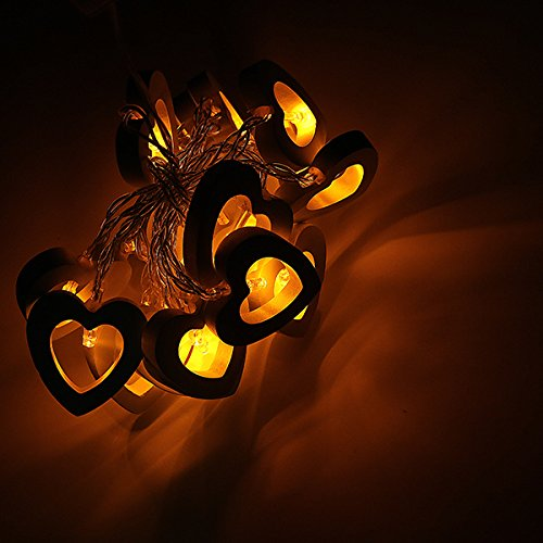 MASUNN 2.2 m 20LEDs Heart-Shaped warm White White Multicolor gelb grün blau LED String hell-gelb