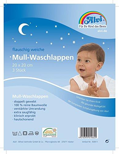 3-Pakete-a-3-Stck-9-Stck-Alvi-flauschig-weiche-Mull-Waschlappen-wei-3x-3x-ca-20-x-20-cm