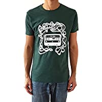 Camiseta de hombre Casete - Color Verde botella Heather - Talla M - Regalo para hombre