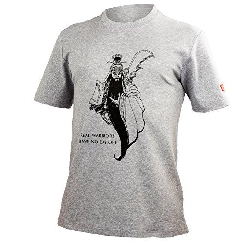 Real Warriors T-Shirt – Training – Kampfkunst – Guan Yu - Wushu - Kung Fu Grau XXXL (Training Warrior T-shirt)