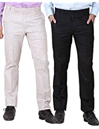 York Style Cotton Rayon Formal Trouser For Men, Set Of 2