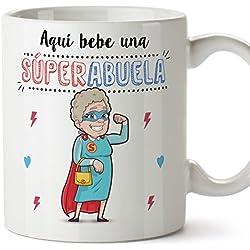 El mejor regalo para la mejor abuela. Taza de Desayuno de 350 Ml.