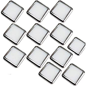 6 Pack Stainless Steel /& Natural White Bathrooms /& Kitchen Skirting Kickboard Spot Lights Loops Square LED Mini Plinth Light /& Driver Kit Recessed//Flush Cabinet Counter Panel Lighting