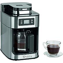 Barista 09925Cafetera con molinillo integrado | 1050W | Acero Inoxidable | Cafetera Eléctrica | Cafetera de émbolo (| Café