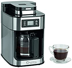 Barista 09925 Kaffeeautomat mit integriertem Mahlwerk | 1050 Watt | Edelstahl | Kaffeemaschine | Kaffeebereiter | Café