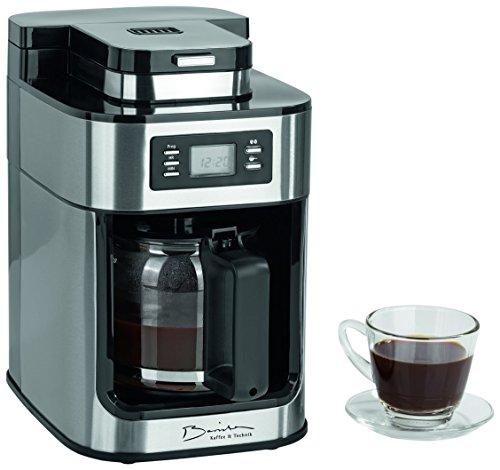 Barista 09925Cafetière avec moulin intégré–1050W–en acier inoxydable–Machine à café–Cafetière à piston–Café