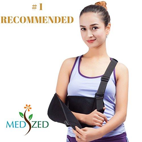 Medized Armschlinge mit Daumen-Unterstützung, Schulterluxation, für gebrochene Arme, Handgelenk, Ellenbogen-Unterstützung, ergonomisch, leicht, atmungsaktives Netzmaterial, Riemen, für Damen & Herren, Einheitsgröße für Erwachsene