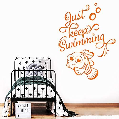 Accessori per la Decorazione della casa dei Bambini Rimovibili in Vinile Rimovibili Applique da Nuoto per Bambini