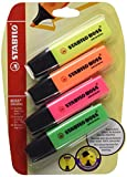 Textmarker - STABILO BOSS ORIGINAL - 4er Pack - grün, pink, orange, gelb