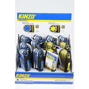 Kinzo 71913 Jeu de Clés pliables Torx Chrome-Vanadium