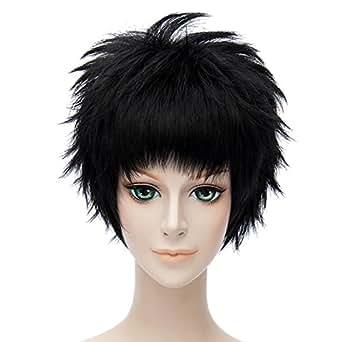 Touken Ranbu Atsu Toushirou Black Short Anime Wigs Cosplay Crop Pixie Haircut