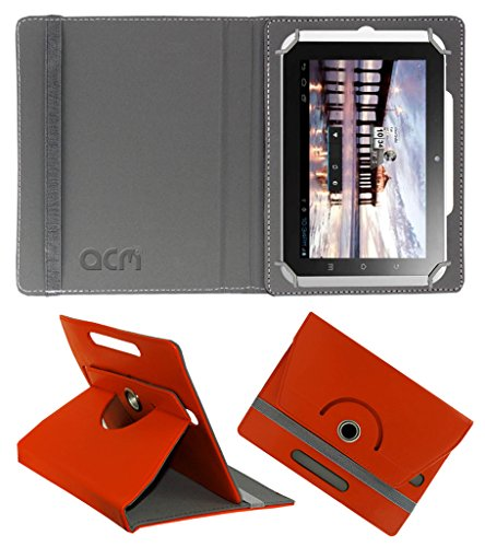 Acm Rotating 360° Leather Flip Case for Hcl Me Y2 Cover Stand Orange  available at amazon for Rs.149