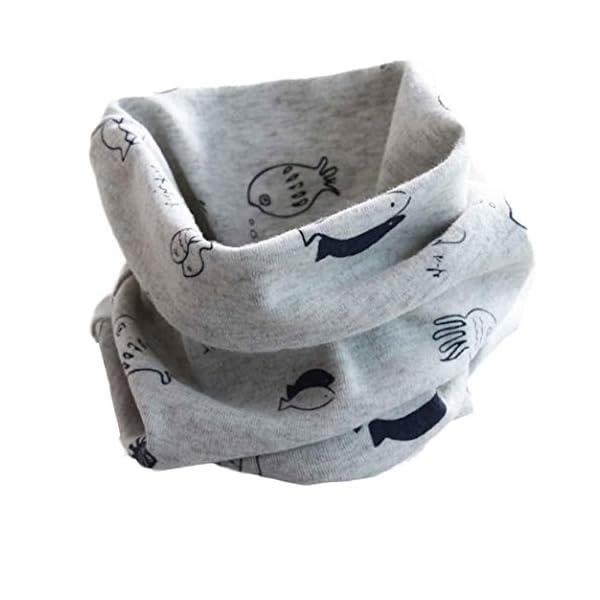 RETUROM Bebé pañuelos de cuello, cuello del algodón del bebé unisex de la bufanda del ringneck pájaro del invierno del… 2