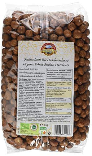 Bio Haselnüsse 1000g Haselnusskerne extra groß aus Sizilien roh, geschält, naturbelassen und unbehandelt Rohkost 1 kg