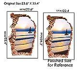 AUVS® 3D- Selbstklebende Abnehmbaren Durchbrechen Die Mauer Vinyl Wandsticker / Wandgemälde Kunst Aufkleber Dekorateur (3023 Kleinen Segelboot (60 * 90cm))