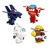 Super Wings Series 2 Transform-a-bots 4 Pack - Flip, Todd, Agent Chase & Astra