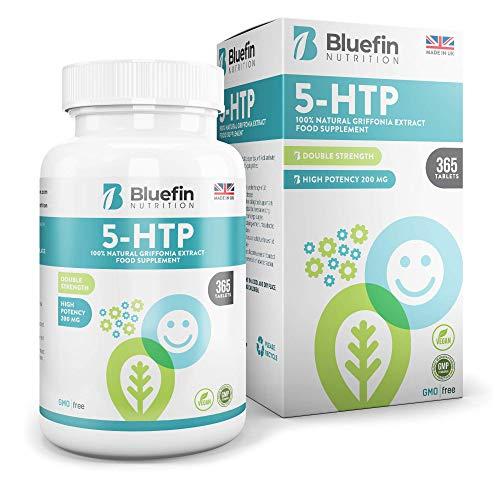 Ultra Pure 5-HTP 200mg | Natürliche Verbesserung von Laune & Schlaf | Echter Griffonia Extrakt | Hochdosiert für höchste Qualität - Hohe Bioverfügbarkeit | Vorrat für 3/6/12 Monate (365 Kapseln) - Natürliche Schlaf-formel