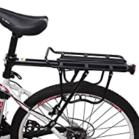 Xpork Alloy Bike Cargo Racks Bicycle Rear Pannier Rack Mountain Carrier Rear Rack Seat Load 25Kg Luggage Bags for Cycling Camping Sport