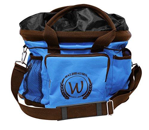 Putztasche blau/braun Pferdeputztasche Putzbeutel mit Trageriemen