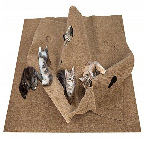 Arvin87Lyly Katzen Kratzmatte Kratzspielzeug Faltbare Haustier Training Matte, Rutschhemmend, dauerhaft Verschleiß Waschmaschinenfest, Haustier Training Matte